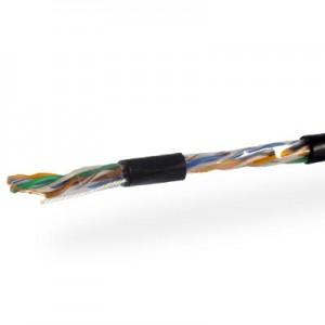Кабель UTP 4х2 (0.51) Cu внешний черный 2jac+провод