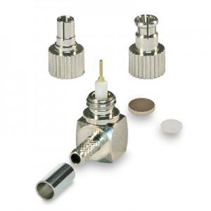 Разъем угловой CRC9/TS9 обжимной под кабель RG174 и RG316